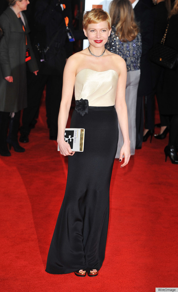 H&M MICHELLE-WILLIAMS-BAFTAS-2012-DRESS